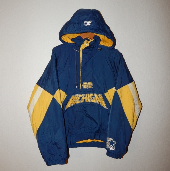Pleasing Vtg 90S Michigan Wolverines Starter Jacket Gmtry Best Dining Table And Chair Ideas Images Gmtryco